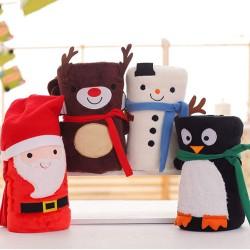 MC 聖誕系列法蘭絨卷毯